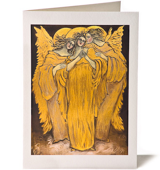 Angel Blessings, Giclee Greeting Card by Susan Seavitt