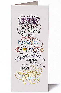 God Loved the World, Giclee Christmas Card by Timothy R. Botts