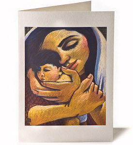 Madonna & Child: Comfort, Giclee Christmas Card by Wayne Forte