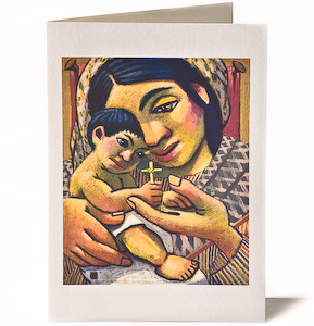 Madonna & Child: Pinoy 3, Giclee Christmas Card by Wayne Forte