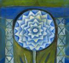 Blue Flower Icon, by Ann Willey, Giclee print at Eyekons