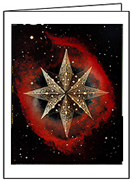 Star of Wonder 4, Christmas Card by Phil Schaafsma