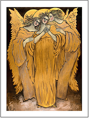 Angel Blessings by Susan Seavitt, available as a poster and Giclee Greeting Cards, for sale at Eyekons.com