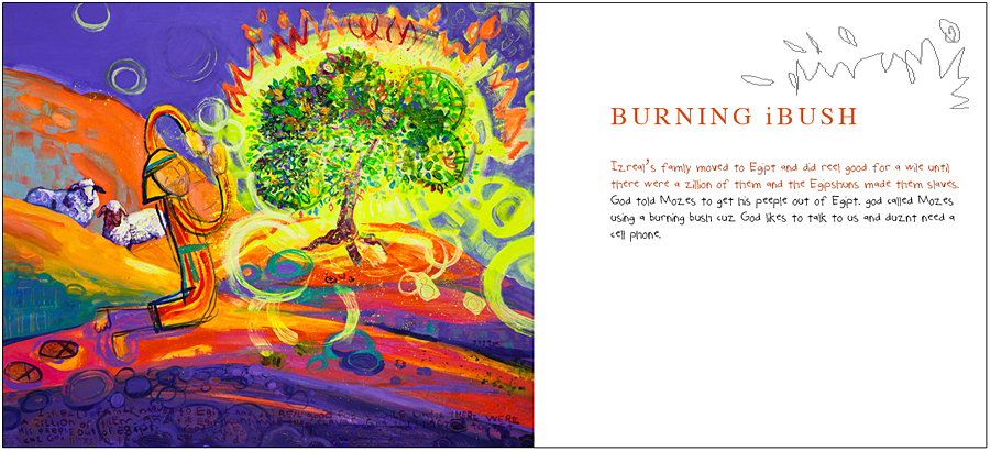 Burning iBush by Joel Tanis - 40- The Biblical Story Book, available at Eyekons.com