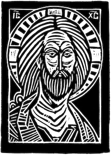 The woodcut Peacemaker by Nicholas Markell is a classic iconic portrayal of Christ done as a black and white wood cut. The Peacemaker is great religious image for church bulletin covers, Christian Powerpoint or sermon illustrations.