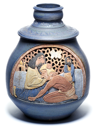 The vase Prodigal Son, by Gary Wilson is part of The Larry & Mary Gerbens Collection of Art inspired by the parable of the Prodigal Son. The Gary Wilson vase Prodigal Son, is featured in the book The Father & His Two Sons - The Art of Forgiveness