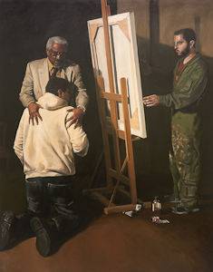 The painting Rembrandts Prodigal Son Revisited, by Jonathan Quist is part of The Larry & Mary Gerbens Collection of Art inspired by the parable of the Prodigal Son. The Jonathan Quist painting Rembrandts Prodigal Son Revisited, is featured in the book The Father & His Two Sons - The Art of Forgiveness