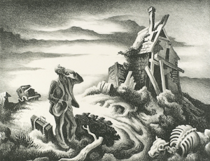 The drawing Prodigal Son, by Thomas Hart Benton is part of The Larry & Mary Gerbens Collection of Art inspired by the parable of the Prodigal Son. The Thomas Hart Benton drawing Prodigal Son, is featured in the book The Father & His Two Sons - The Art of Forgiveness