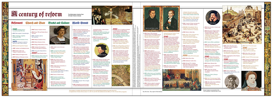 Reformation Timeline - Christian History Institute