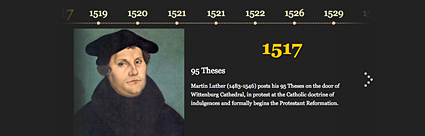 Pictorial timeline of Reformation History - Timeline from Protestantism.co.uk