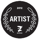 ArtPrize Seal for Steve Prince, artist, linocuts, graphite drawings. Participating in ArtPrize 2012 with Bird in Hand - Second Line for Michigan at Westminster Church, 47 Jefferson SE