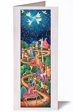 John August Swanson, Epiphany Christmas Card, from his original serigraph
