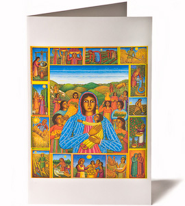 Madonna of the Harvest Greeting Card, by Serigraph artist John August Swanson, Holiday Card