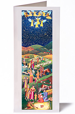 John August Swanson, Nativity Christmas Card, from his original serigraph