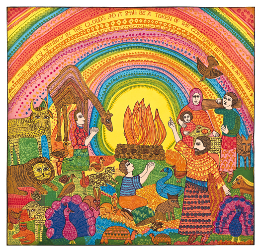 The John August Swanson serigraph The Rainbow is for sale from Eyekons Gallery. Eyekons is a source for Christian art, religious art, biblical art and church images.