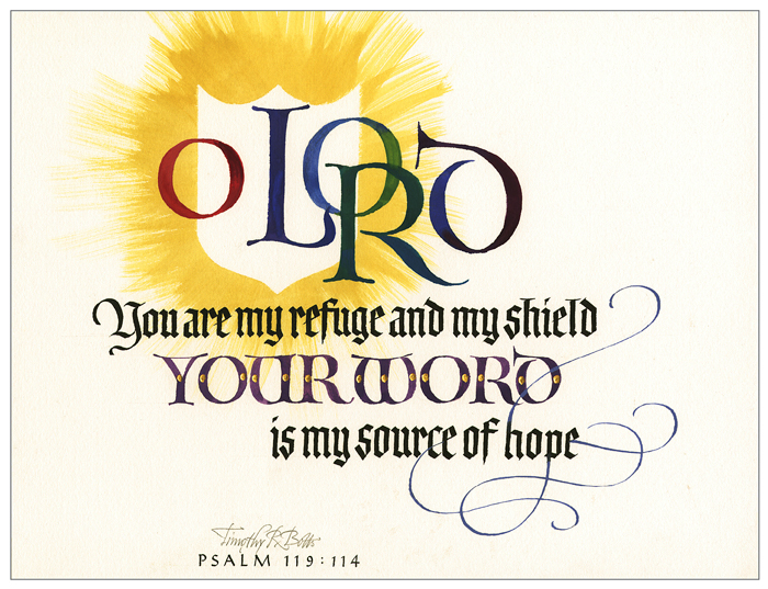 Christ in You - The Hope of Glory - 2020 Calendar Psalm 119 - calligraphy by Tim Botts