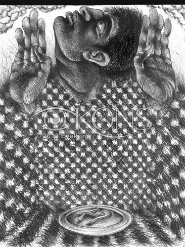 Daily Bread: Three Nail Course, a graphite drawing by Steve Prince